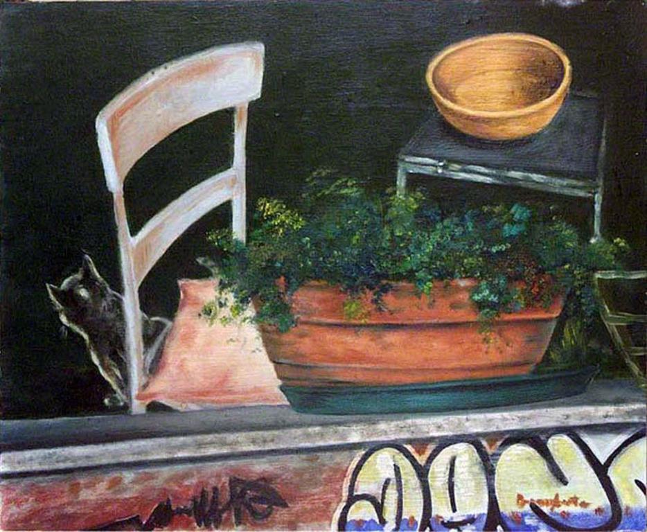 """Dipinto di Branciforte della collezione """"Non luoghi"""""""