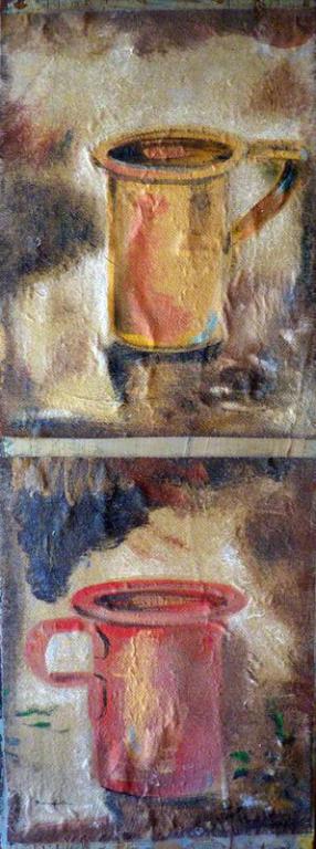 """Dipinto di Branciforte della collezione """"Oggetti nello spazio"""""""