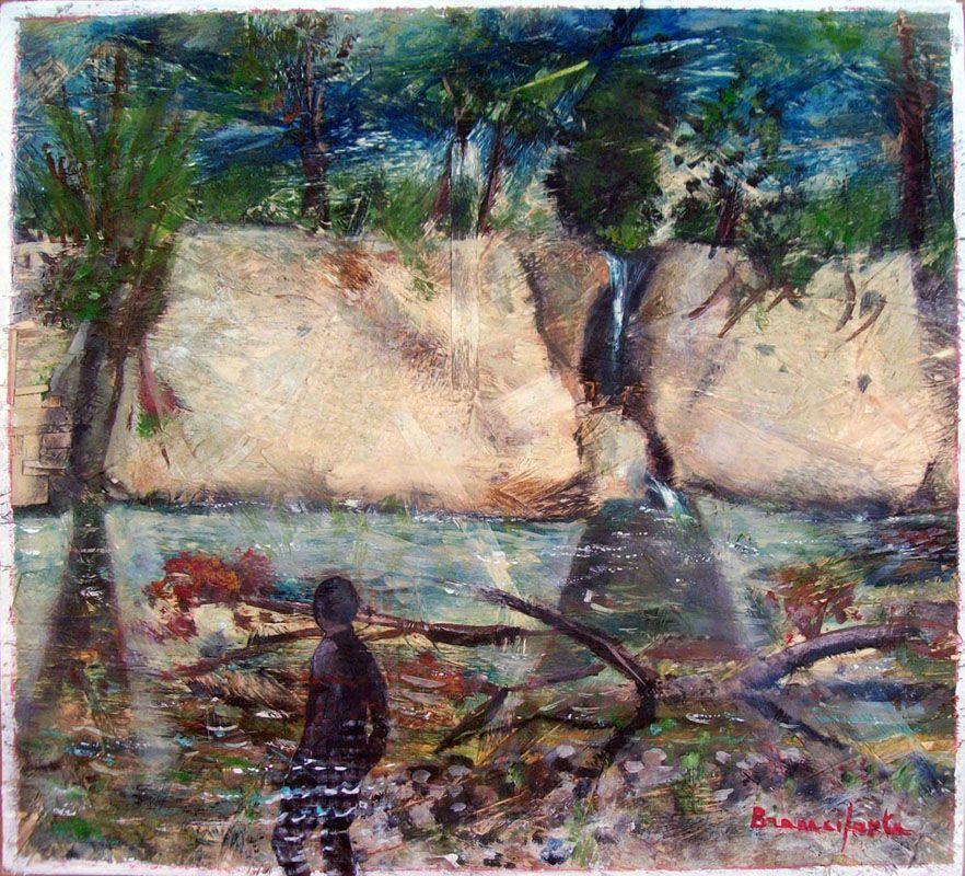 Branciforte- Uomo immerso nel fiume