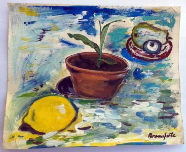 branciforte Oggetti, gouache su cartone, 21 x 29