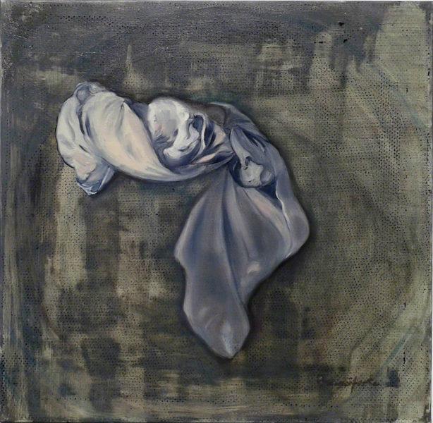 Branciforte - Drappo, 2016, olio su tela, cm. 60 x 60